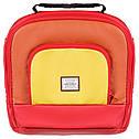Коляска 2 в 1 Adamex Luciano кожа 100% Q269 красный - оранжевый - желтый, фото 6