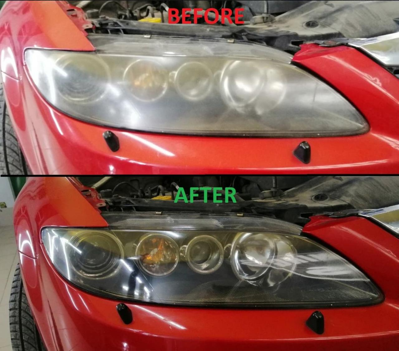 Полировка фар Mazda 6