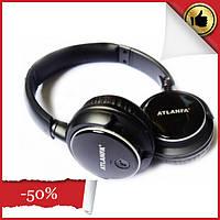 Беспроводные наушники с микрофоном ATLANFA AT-7612 с Bluetooth, MP3 и FM, гарнитура для телефона, ПК