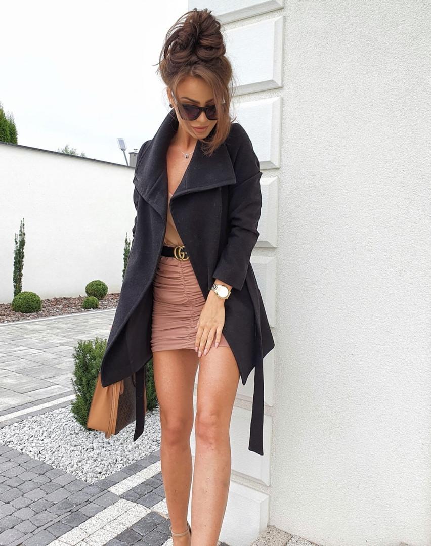 Женское пальто, кашемир, р-р 42-44; 44-46 (тёмно серый)