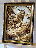 "Картина из янтаря "" Сова"" 30x40 см, фото 2"
