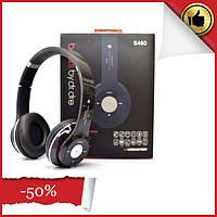 Беспроводные Bluetooth наушники с микрофоном S460 аналог Monster beats solo2, чёрные гарнитуры (КОПИЯ)