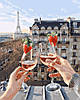 Раскраска для взрослых Шампанское и клубника (BK-GX24907) 40 х 50 см  [Без коробки]