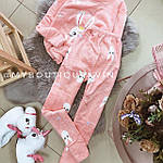 Женская пижама, плюш, велсофт, р-р S(42); M(44-46) (розовый), фото 3