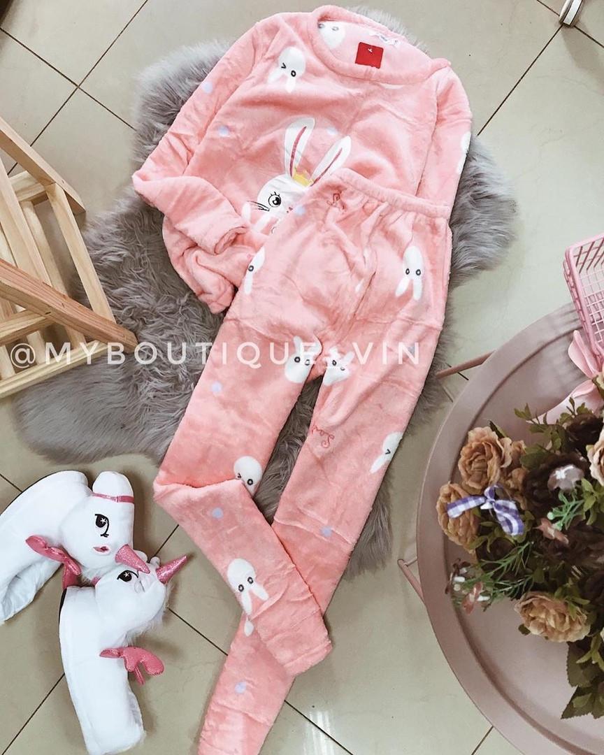 Женская пижама, плюш, велсофт, р-р S(42); M(44-46) (розовый)