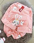 Женская пижама, плюш, велсофт, р-р S(42); M(44-46) (розовый), фото 2