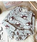 Женская пижама, плюш, велсофт, р-р S(42); M(44-46) (серый), фото 2