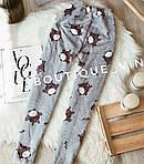 Женская пижама, плюш, велсофт, р-р S(42); M(44-46) (серый), фото 3