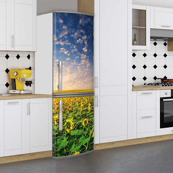 Самоклейка на холодильник, Магнит, 180 х 60 см, Лицевая