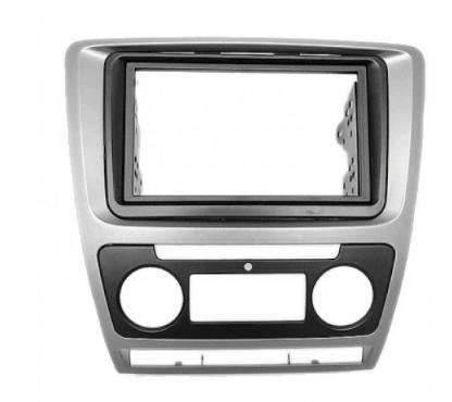 Рамка переходная CARAV 11-258 Skoda Oktavia 08-13 (Auto Air-Cond) Grey (Р20367)