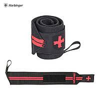Кистевые бинты Harbinger Red Line Wrist Wraps 44300 Black/Red (46 см, пара)