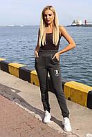 Спортивные штаны теплые на резинке графит N195, фото 1