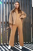 Кожаная куртка с объемными рукавами UN, фото 1