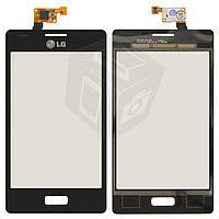 Touchscreen (сенсорный экран) для LG Optimus L5 E610 / E612 / E615, черный, оригинал
