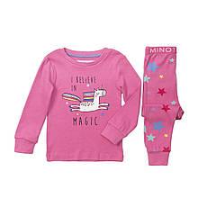 Детская пижама для девочки розовая с единорогами