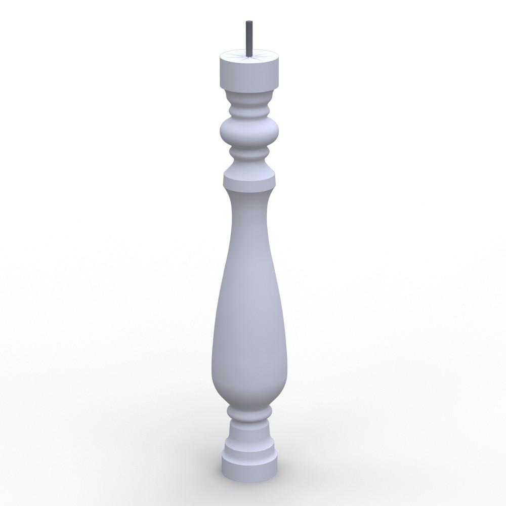 Балясина из гипса, гипсовая балясина бл-2 (h 620мм)