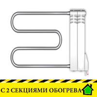 Электрополотенцесушители Эра+ с двумя секциями обогрева