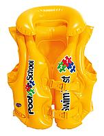 """Детский Надувной жилет """"Pool School"""" Intex (Желтый)"""