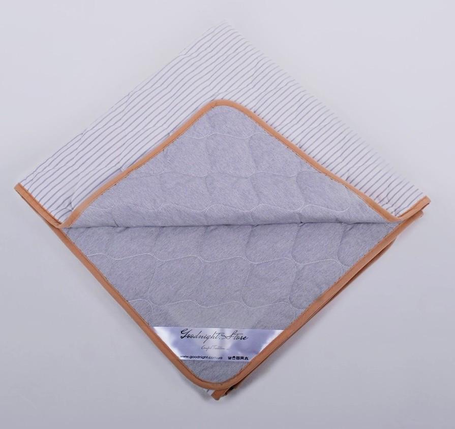 Одеяло из шерсти мериносов Ultra Lite Серое в полоску 160х200