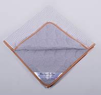Одеяло из шерсти мериносов Ultra Lite Серое в полоску 160х200, фото 1