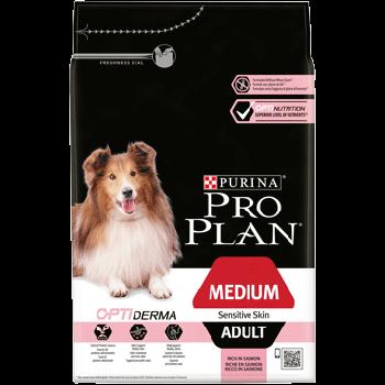 Сухой корм Pro Plan Medium Sensitive для собак средних пород склонных к аллергии c лососем, 14 кг