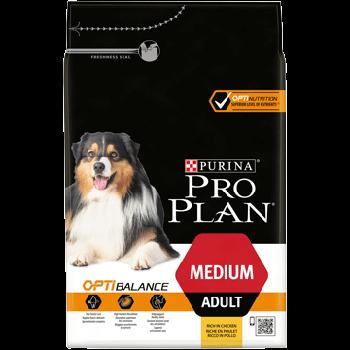 Сухой корм Pro Plan Medium для собак средних пород c курицей, 3 кг