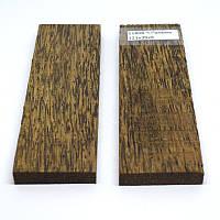 Древесина накладки Черная пальма 121х39х9, фото 1