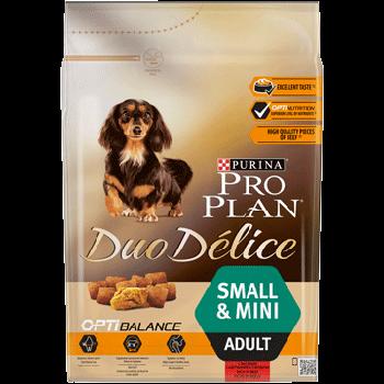 Сухой корм Pro Plan Duo Delice Adult Small&Mini для собак мелких пород с говядиной, 2,5 кг