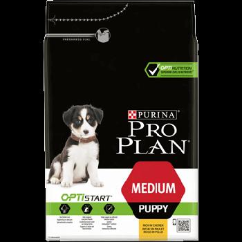 Сухой корм Pro Plan Puppy Medium для щенков средних пород с курицей, 3 кг