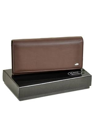 Женский кожаный кошелек DR. BOND W1-V coffee
