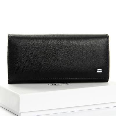 Женский кожаный кошелек DR. BOND W1-V-2 black