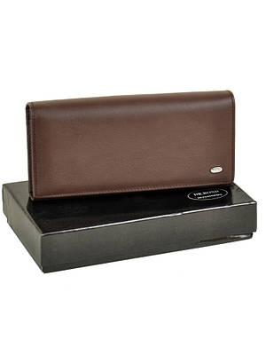 Женский кожаный кошелек DR. BOND W1-V-2 coffee