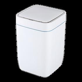 Сенсорное ведро для мусора с внутренним ведром Jah6811 8л Белое (Papatya-TM)