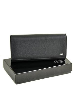 Большой женский кожаный кошелек DR. BOND W501 black
