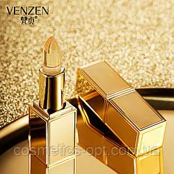 Гелевая увлажняющая губная помада с частицами золота VENZEN 24K Gold Hydrating Lip Balm, 4,3 g