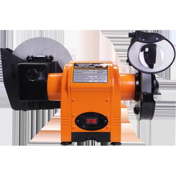 Кутове точило електричне WorkMan 150WG електроточило, точильний верстат з мокрим каменем, електро наждак
