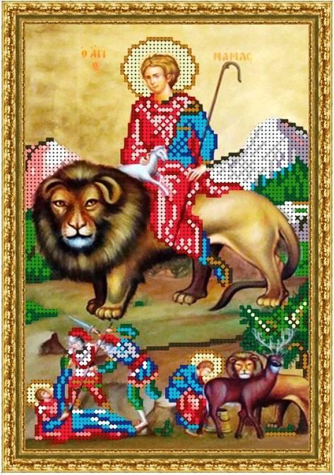 Вишивка схеми бісером, Канва Ікони Релігія Ікона святого Маманта