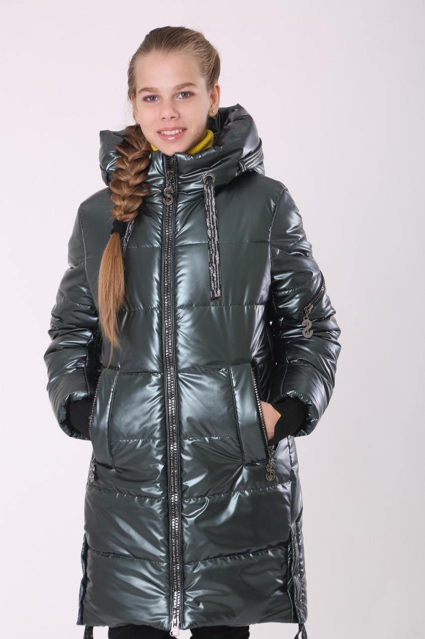 Зимнее пальто для девочки 36-44 Волна