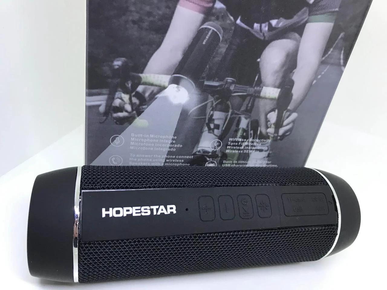 Беспроводная влагозащищенная велосипедная стерео Bluetooth колонка Hopestar P11 фонарик велосипедное крепление
