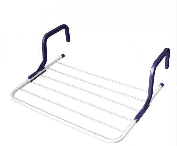 Підвісна вішалка для одягу на батарею 55*34 см знімна Fold Clothes Shelf
