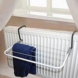 Підвісна вішалка для одягу на батарею 55*34 см знімна Fold Clothes Shelf, фото 6