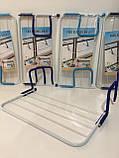 Подвесная сушилка для одежды на батарею 55*34 см съемная Fold Clothes Shelf, фото 7