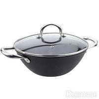 Сковорода Wok со стелянной крышкой Bohmann BH 601-26 (26 см/3.2 л)