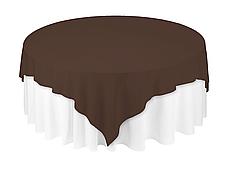 Скатертина 220х220см Шоколадний з просоченням Тефлон (Т-310) Наперон Туреччина на стіл Ø180см, фото 3