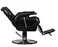 Кресло парикмахерское черное Barber Elite (Элит), фото 2