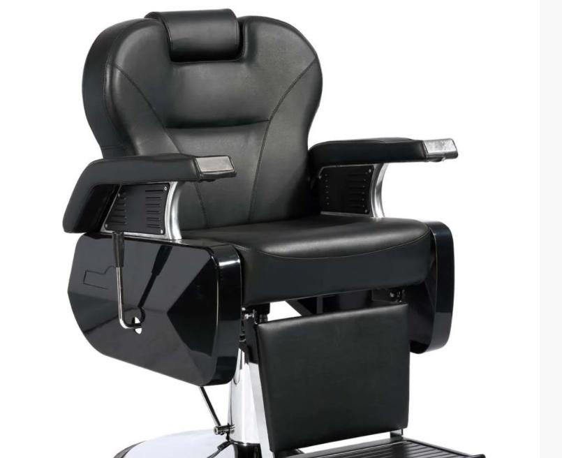 Кресло парикмахерское черное Barber Elite (Элит)