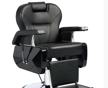 Крісло перукарське чорне Barber Elite (Еліт)