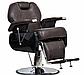 Кресло парикмахерское черное Barber Elite (Элит), фото 4