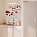 Наклейка на стіну Музика кави, фото 6