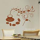 Наклейка на стіну Музика кави, фото 7
